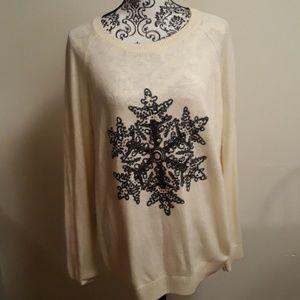 H&M cream pullover sweater